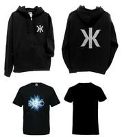 Kaija Koo Combo bling bling logo-huppari musta + t-paita Discopallo V-aukkoinen