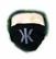 Kaija Koo bling bling hengityssuoja musta isolla logolla