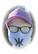Kaija Koo bling bling hengityssuoja valkoinen isolla logolla