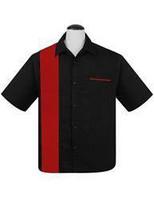 Musta punapaneli paita