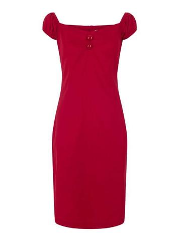 Bestseller kapea mekko punainen