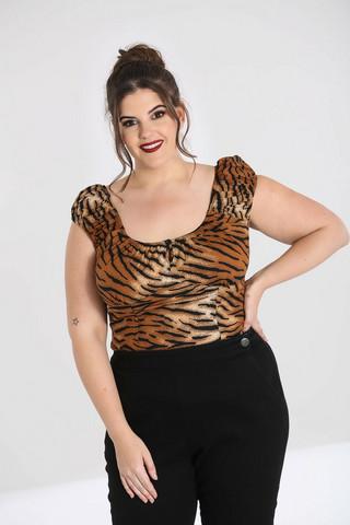 Tiikerikuvioinen pusero