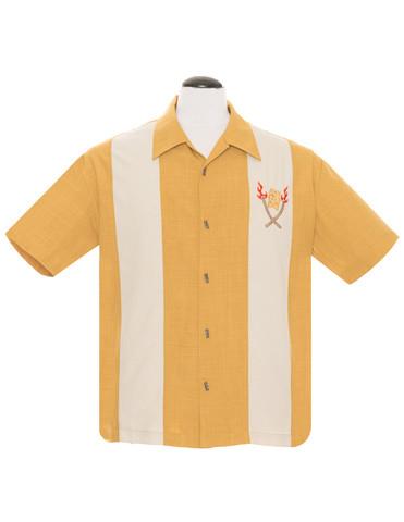 Sinapinkeltainen tiki paita