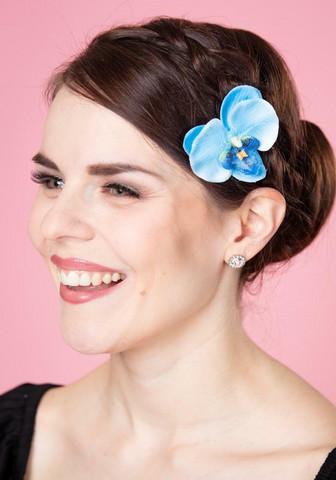 Sininen hius- ja pukukukka