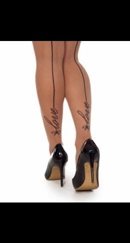 Love-kuviolliset sukkahousut