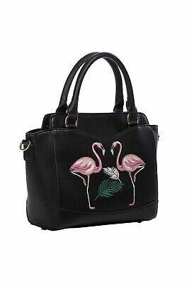 Musta flamingo laukku