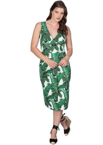 Trooppinen palmunlehti mekko