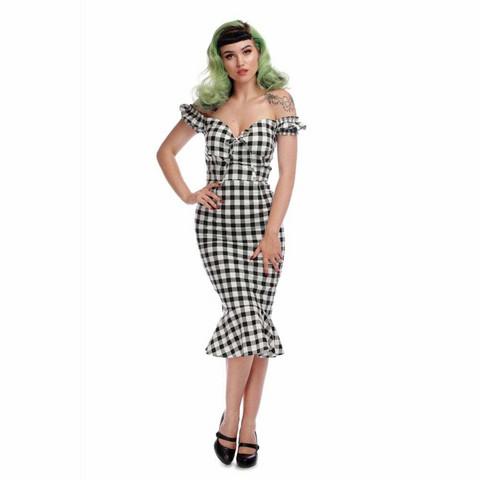Merenneitomallinen ruudullinen kapea mekko