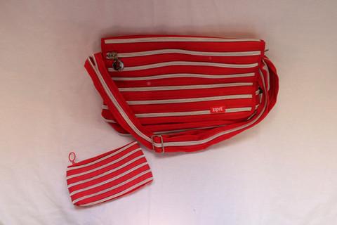 Punahopea Läppärilaukku