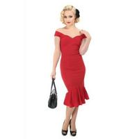 Merenneito mallinen mekko Punainen