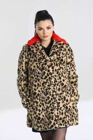 Leopardi keinotekoinen turkki takki