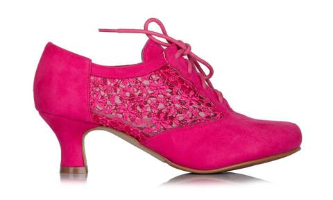 Leveälestinen Pinkki kävelykenkä, tanssikenkä, juhlakenkä