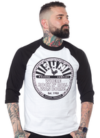 Miesten 3/4 hiha rock'n roll aiheinen paita