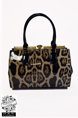 Leopardikuvioinen käsilaukku
