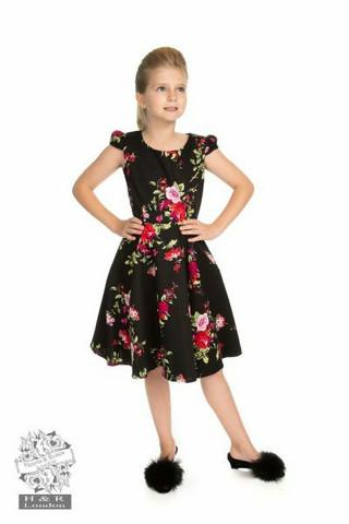 Ruusukuvioinen mekko