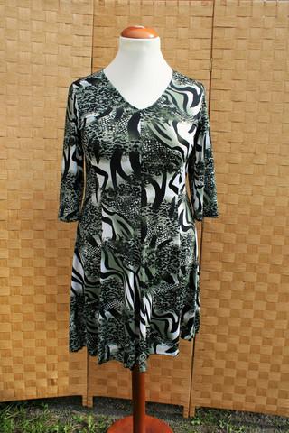 Vihertävä mekko mallinen tunika