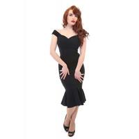 Merenneito mallinen mekko Musta