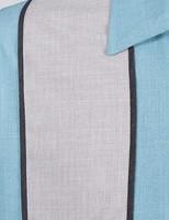 Vaaleansininen harmaapaneli paita