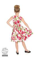 Pikkutyttöjen pinkkiruusu mekko