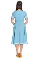 Vaaleansininen sailor mekko