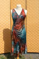 Sulkakuvioinen joustava mekko