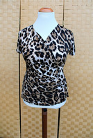 Pariisin malliston iso leopardi kuviollinen pusero