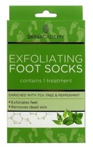 Skin Academy Exfoliating Foot Socks - Tea Tree & Peppermint