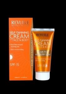 Revuele Self-Tanning Cream for Face and Body - Fair to Medium Skin 200ml