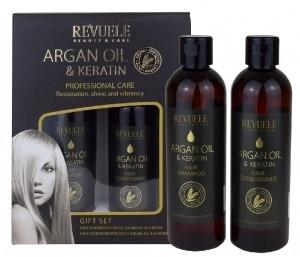 Revuele Argan Oil & Keratin Gift Set 2 x 250ml