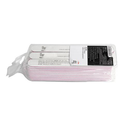 Pack 30 2-way nail files 100/100, white