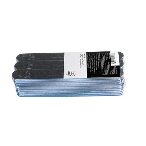 Pack 30 2-way nail files 180/180, black