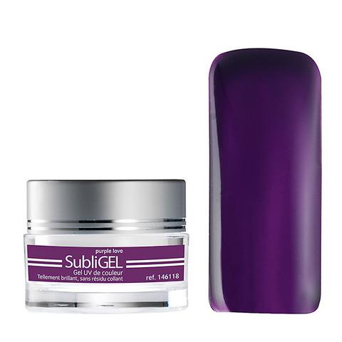 Coloured UV nail gel Subligel 7 ml - purple love