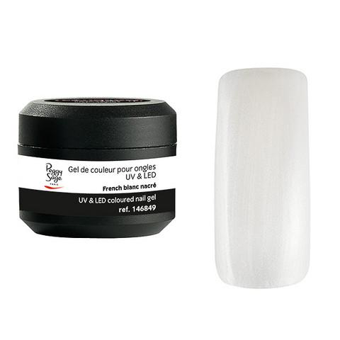 Coloured UV nail gel French blanc 5g