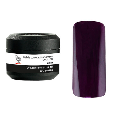 Coloured UV nail gel prune 5g