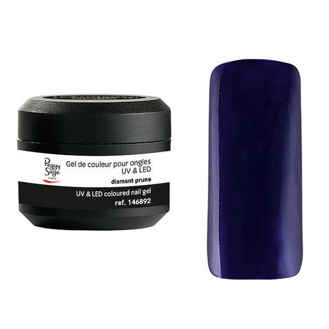Coloured UV nail gel diamant prune 5g