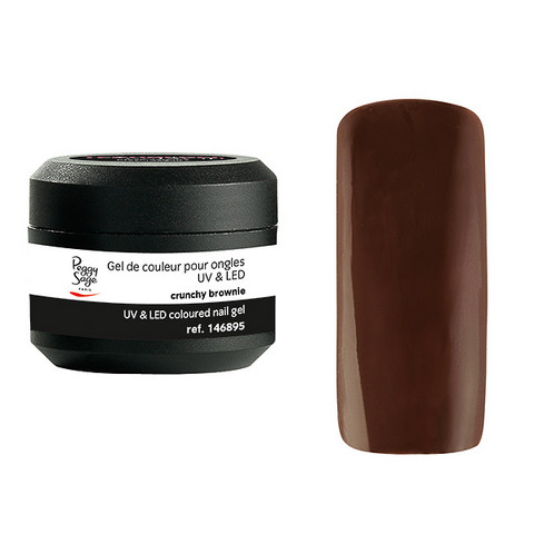Coloured UV nail gel crunchy brownie 5g