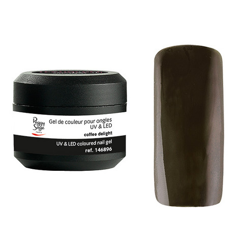 Coloured UV nail gel coffee delight 5g