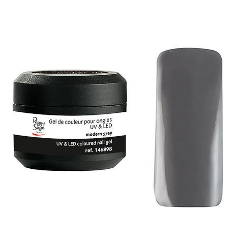 Coloured UV nail gel modern grey 5g