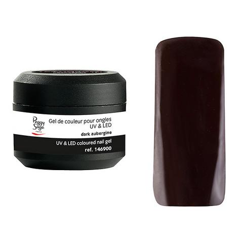 Coloured UV nail gel dark aubergine 5g