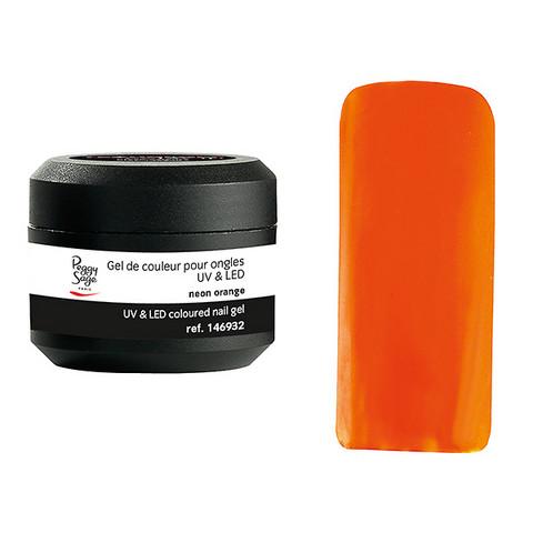 Coloured UV nail gel neon orange 5g