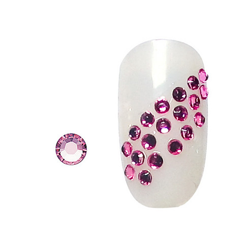 20 rhinestones for nails light rose SS5