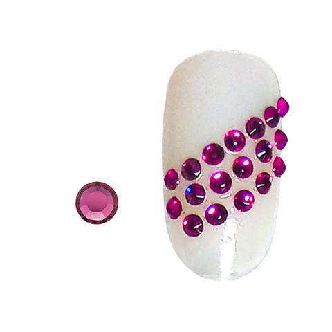 20 rhinestones for nails fuchsia SS5