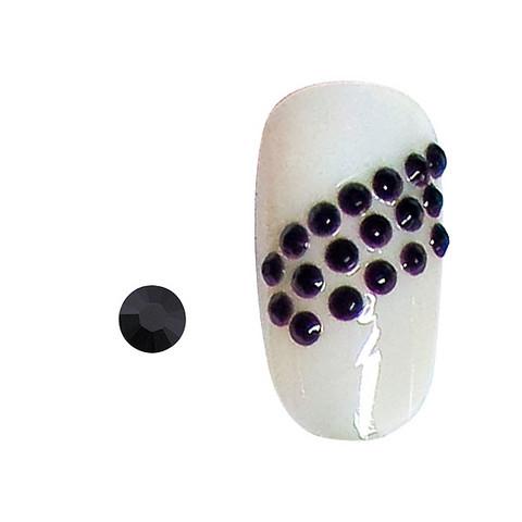 20 rhinestones for nails black SS5