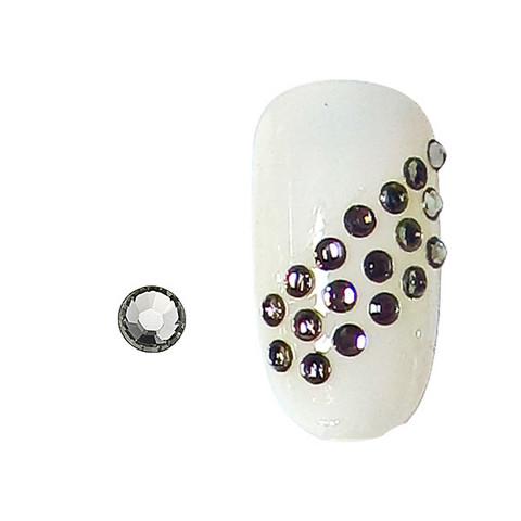 100 rhinestones for nails black diamond SS3