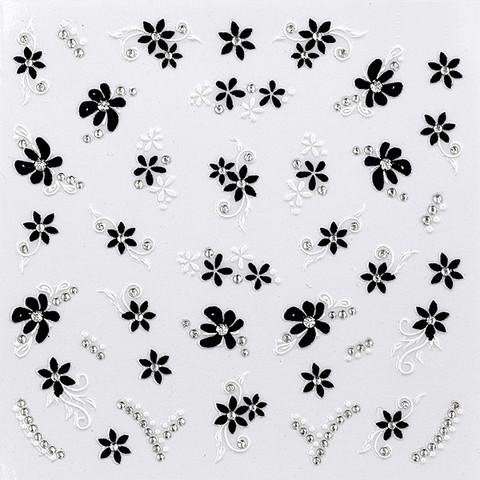 Decorative nail stickers Black & White