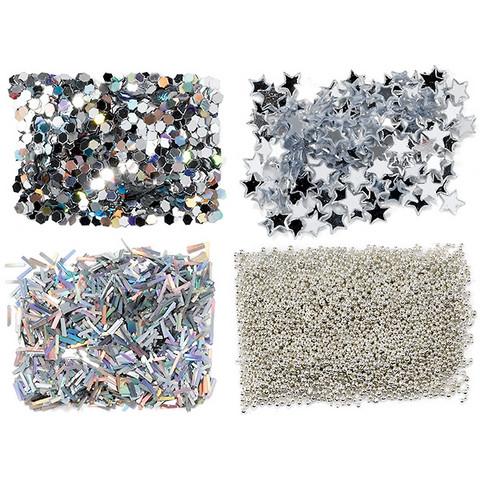 Nail glitter mini kit - argent