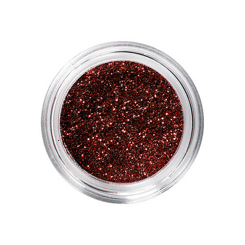 Nail glitters rouge