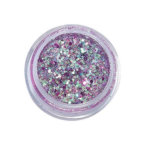 Ultra-sparkling nail glitters UV gel violine