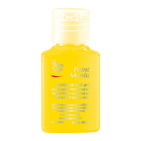 Nail art paint Paint mania jaune citron 25ml