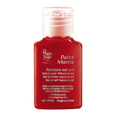 Nail art paint Paint Mania rouge profond 25ml